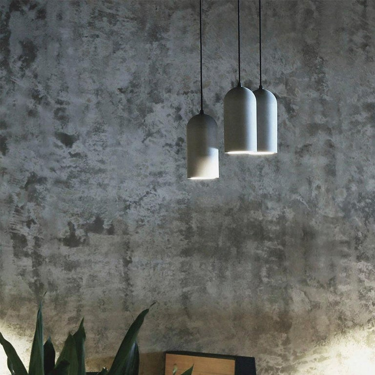 Chinese U Concrete Ceiling Lamp by Bentu Design For Sale