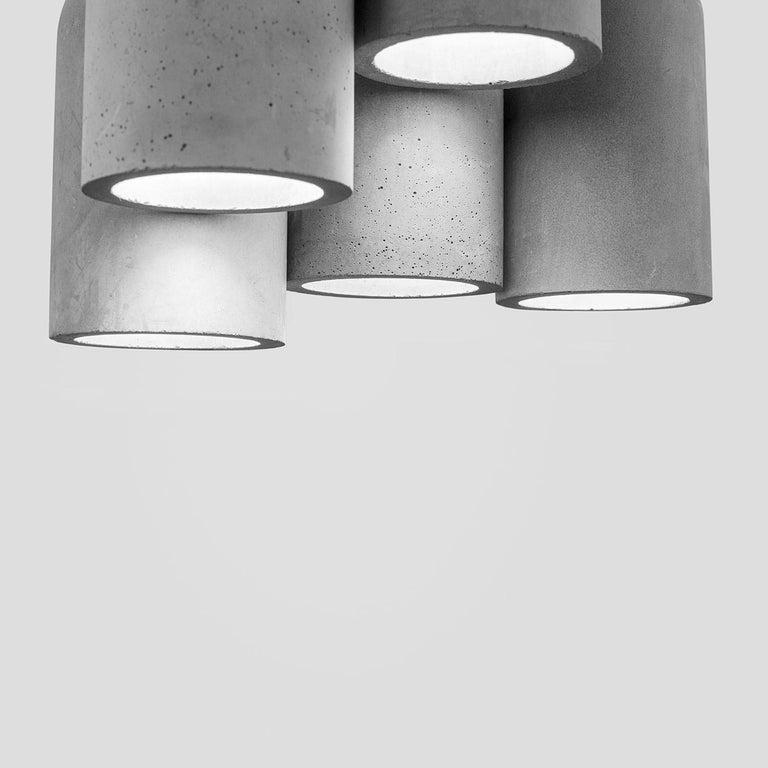 U Concrete Ceiling Lamp by Bentu Design In New Condition For Sale In Paris, FR