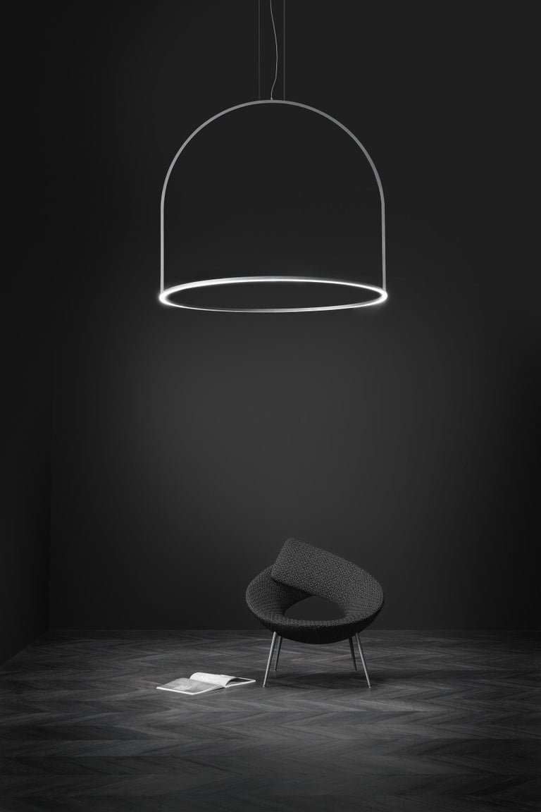 U-Light Modern Italian LED Ring Pendant with Arch by Axolight, Small In New Condition For Sale In Danbury, CT