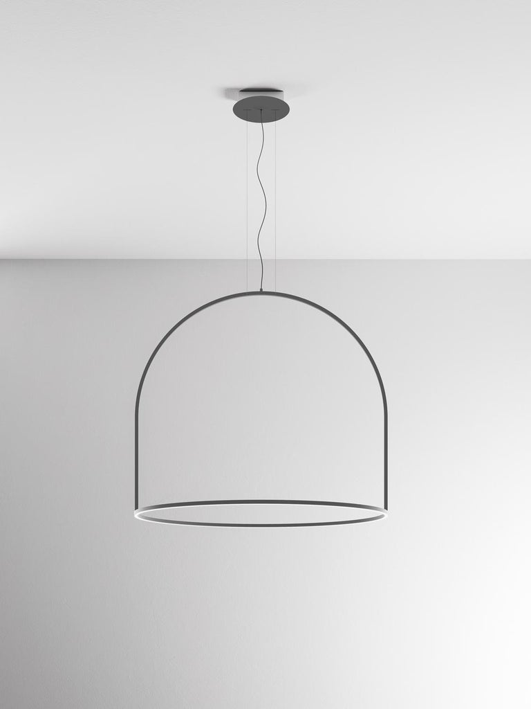 U-Light Modern Italian LED Ring Pendant with Arch by Axolight, Large In New Condition For Sale In Danbury, CT