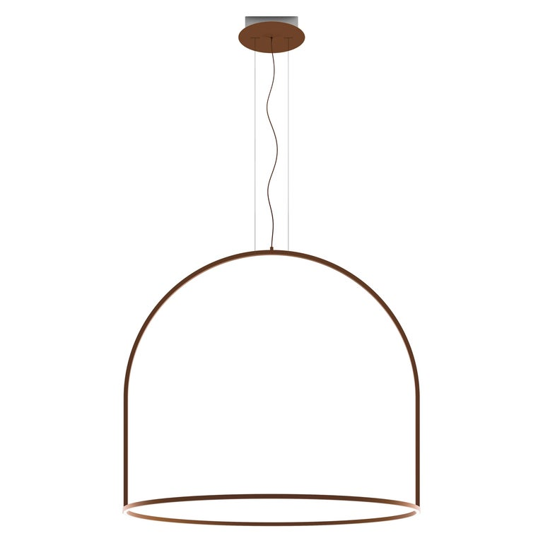U-Light Modern Italian LED Ring Pendant with Arch by Axolight, Large For Sale