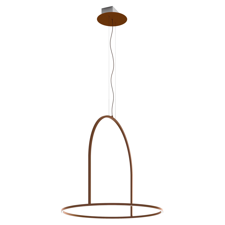 U-Light Modern Italian LED Ring Pendant with Arch by Axolight, Medium