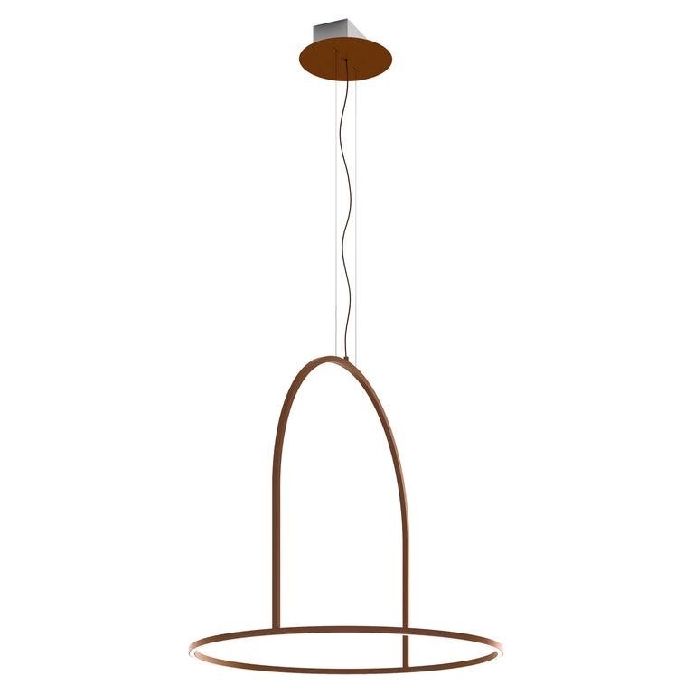 U-Light Modern Italian LED Ring Pendant with Arch by Axolight, Medium For Sale