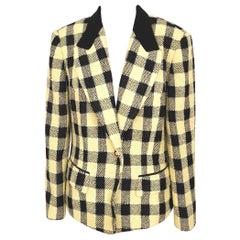 Uarell yellow black wool jacket