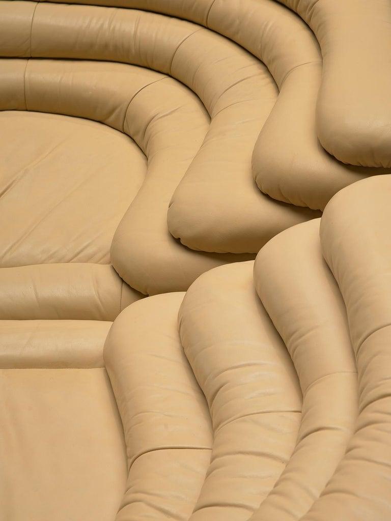 Ubald Klug Set of Four Sand Color 'Landscapes' by De Sede For Sale 3