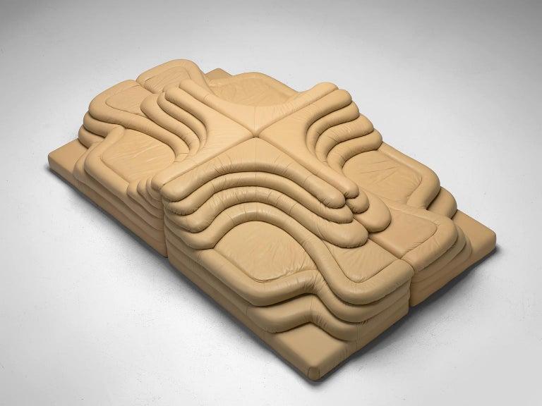 Ubald Klug Set of Four Sand Color 'Landscapes' by De Sede In Good Condition For Sale In Waalwijk, NL