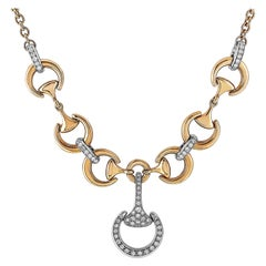 White Diamond Link Necklaces