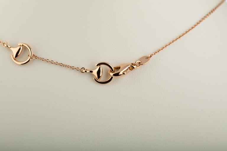 Ubaldi Equestrian Jewelry Horse Diamonds Pave Pendant Rolo 18kt Rose Gold Chain For Sale 2