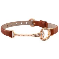 Ubaldi Gioielli 18 Karat Gold Equestrian Horse Bit Gold Diamonds Bracelet