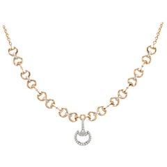 Ubaldi Gioielli 18k Gold Equestrian Necklace Horse Bit Grand Fusion Horseshoe