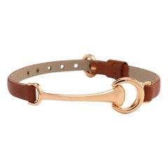 Ubaldi Gioielli Equestrian Horse Bit 18 Karat Rose Gold Bracelet