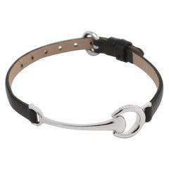 Ubaldi Gioielli Equestrian Horsebit 18 Karat White Gold Bracelet