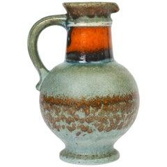 Ubelacker West German Midcentury Art Pottery Handled Vase