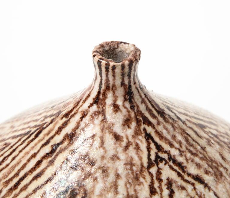 Glazed Uberto Zannoni Ceramic Vase, Italy, circa 1950 For Sale