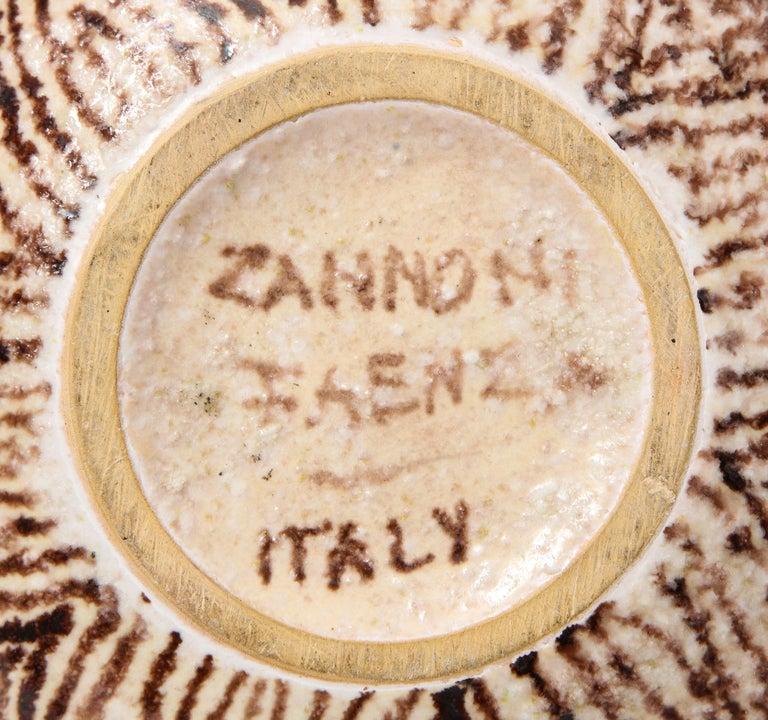 20th Century Uberto Zannoni Ceramic Vase, Italy, circa 1950 For Sale