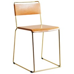 UCCIO Chair Brass and Leather