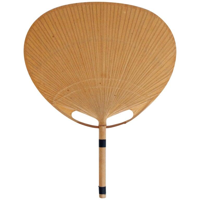 Uchiwa Bamboo Fan Sconce by Ingo Maurer For Sale