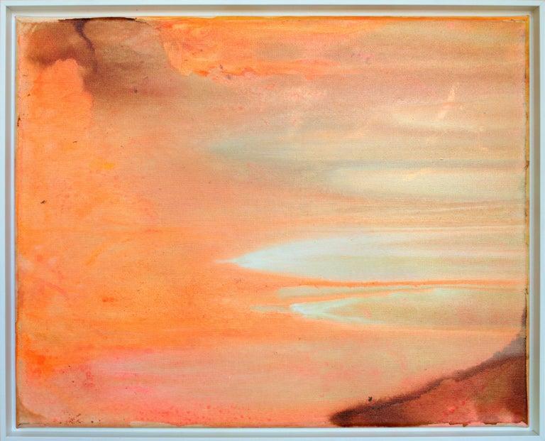 "Acrylic Ink on Canvas ""Morning Beach"" 2016 by Udo Haderlein"