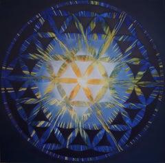 """Cosmic Portal 1"", Acrylic Paint on Canvas 2016-2018 by Udo Haderlein"