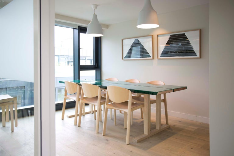 English Udukuri Epoxy Resin Table in Magenta by Jo Nagasaka for Established & Sons For Sale