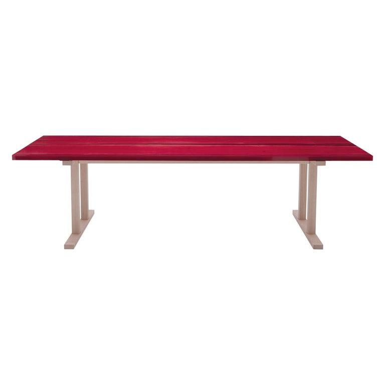 Udukuri Epoxy Resin Table in Magenta by Jo Nagasaka for Established & Sons For Sale