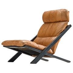 Ueli Berger for De Sede Lounge Chair in Cognac Leather