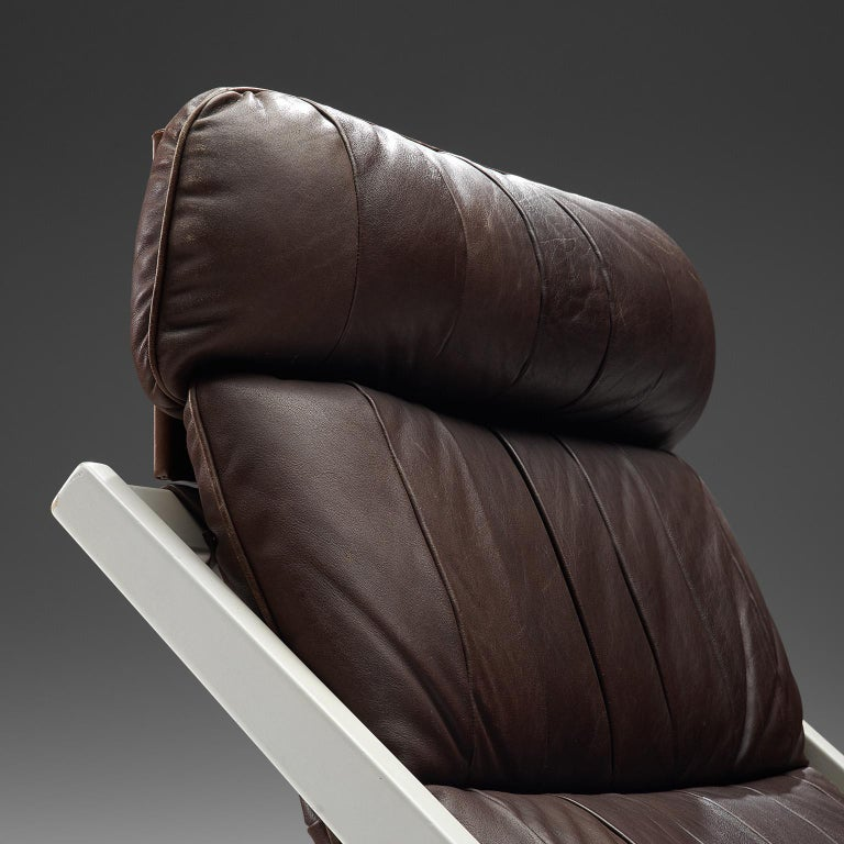Ueli Berger Lounge Chair for De Sede in Dark Brown Leather In Good Condition For Sale In Waalwijk, NL