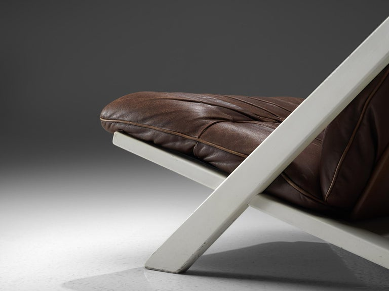 Late 20th Century Ueli Berger Lounge Chair for De Sede in Dark Brown Leather For Sale