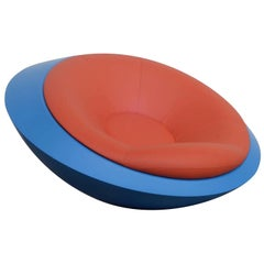 U.F.O. Red and Blue Round Armchair