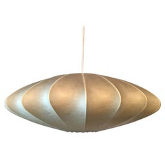 UFO Style Flying Saucer Cocoon Pendant Lamp from 1960s, Italy