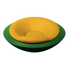 U.F.O Yellow and Green Round Armchair