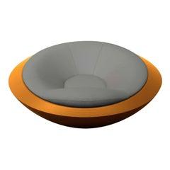 U.F.O. Yellow and Grey Round Armchair
