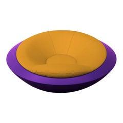 U.F.O. Yellow and Purple Round Armchair
