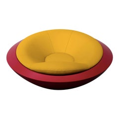 U.F.O. Yellow and Red Round Armchair