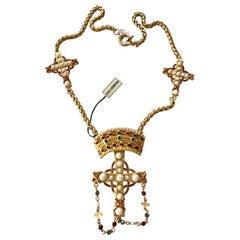 Ugo Correani Cross Pendant Necklace