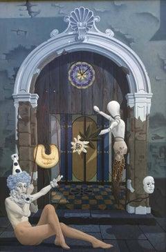 FIGURES BY THE DOOR