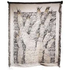 Ugo La Pietra Artificial Nature #1 Cotton Silk Virgin Wool Tapestry