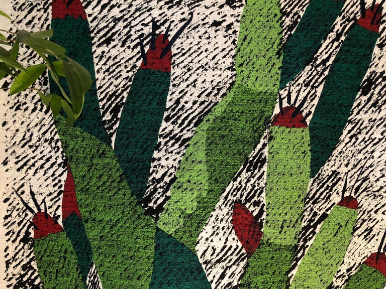 """Ugo La Pietra artificial nature #3 cotton silk virgin wool tapestry  Ugo La Pietra presents his tapestries as a decorative exercise in homage to the """"garden"""", these works represent for the author one of the many exercises he developed already in"""