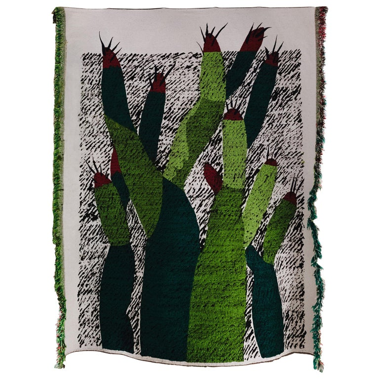 Ugo La Pietra Artificial Nature #3 Cotton Silk Virgin Wool Tapestry