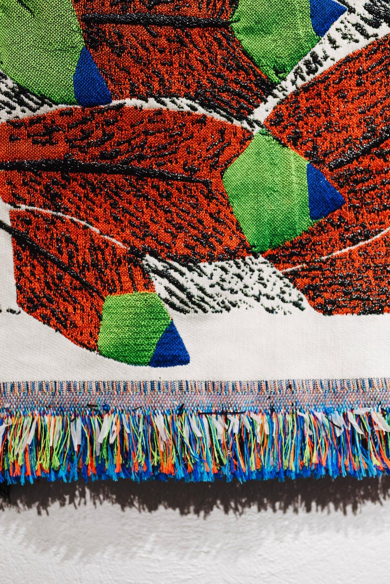 Ugo La Pietra Artificial Nature #6 Recycled Fibers Tapestry In Excellent Condition For Sale In Milan, IT