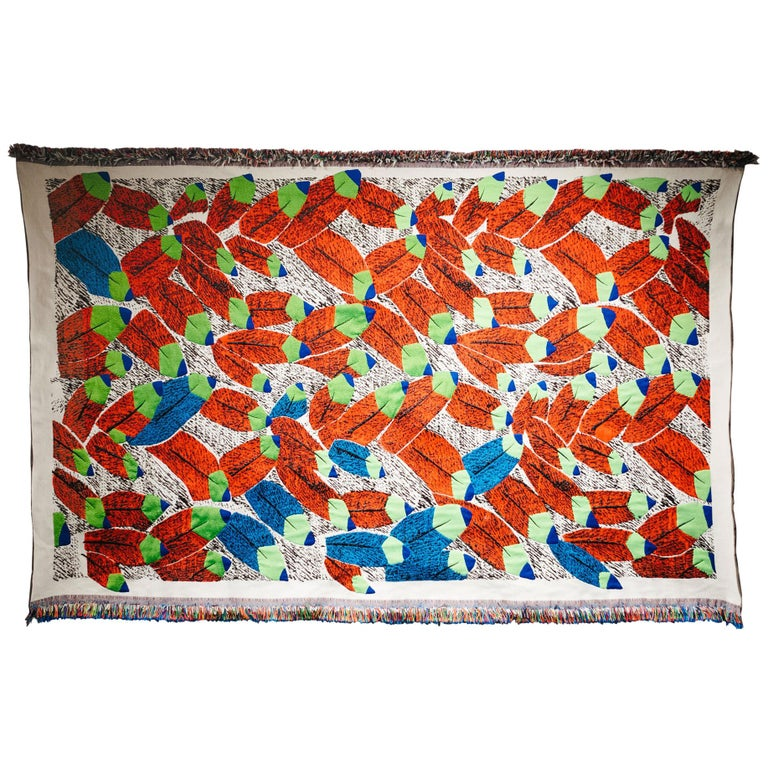 Ugo La Pietra Artificial Nature #6 Recycled Fibers Tapestry For Sale