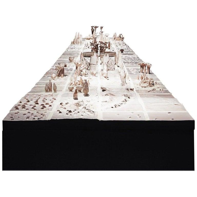 "Ugo La Pietra ""Mediterranean Table"" 1992 Ceramic Table For Sale"