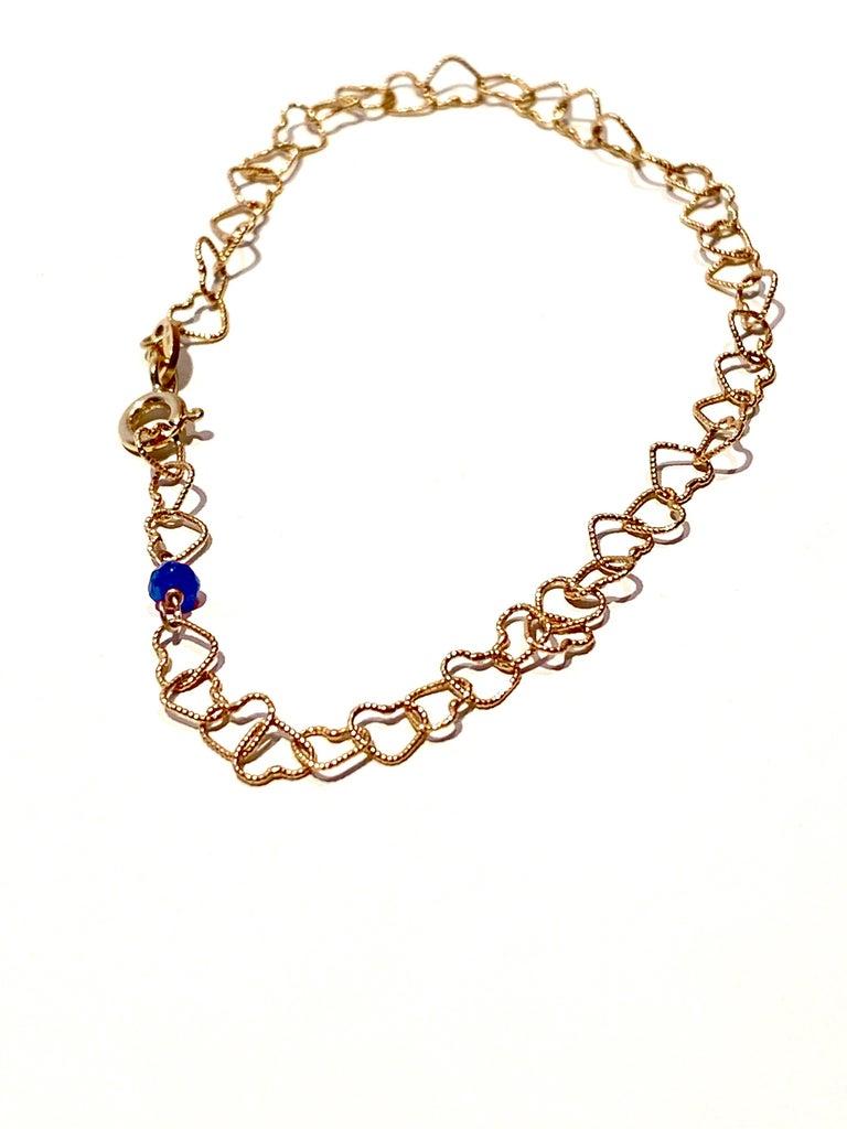 Romantic Style 18Karat Yellow Gold 0.30Karat Sapphire
