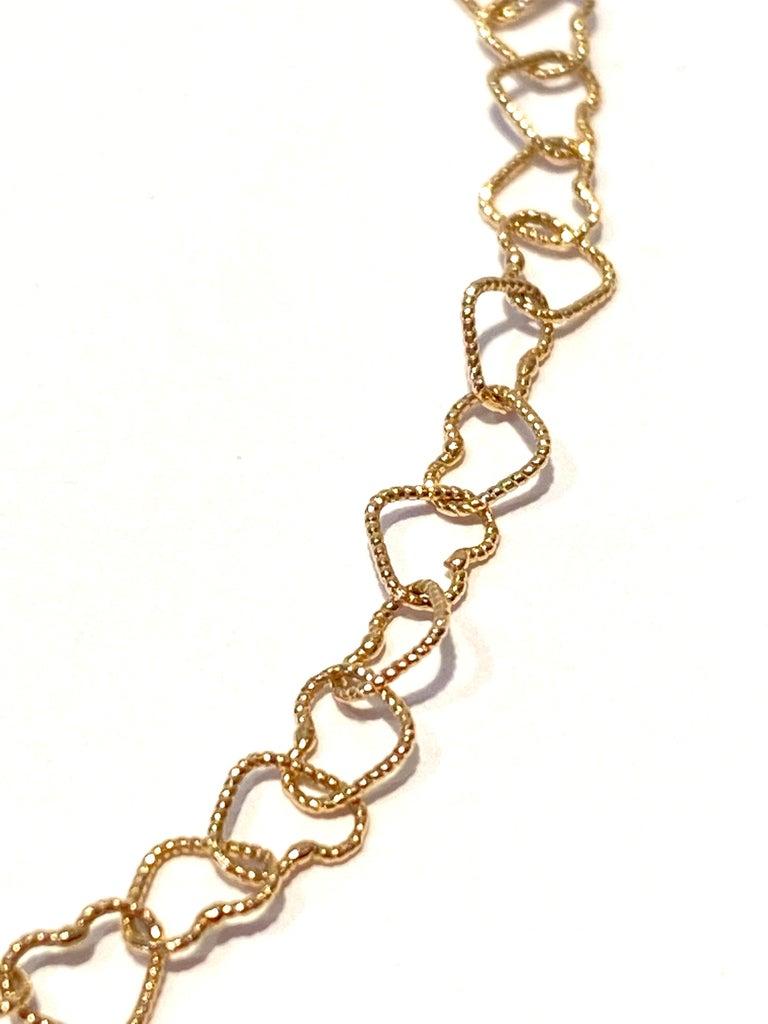 Women's Ugolini 18Karat Yellow Gold 0.30Karat Sapphire Hammered