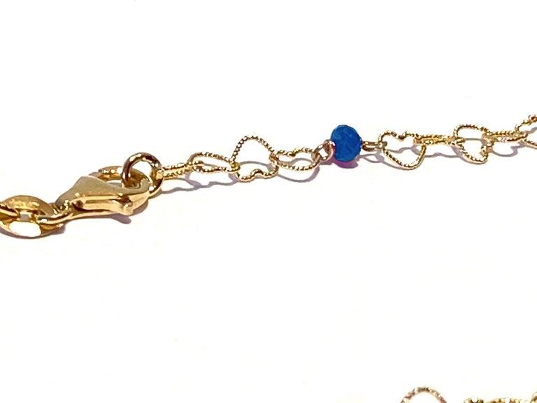 Romantic Style Rossella Ugolini Handcrafted 18Karat Yellow Gold 0.51Karat Sapphire