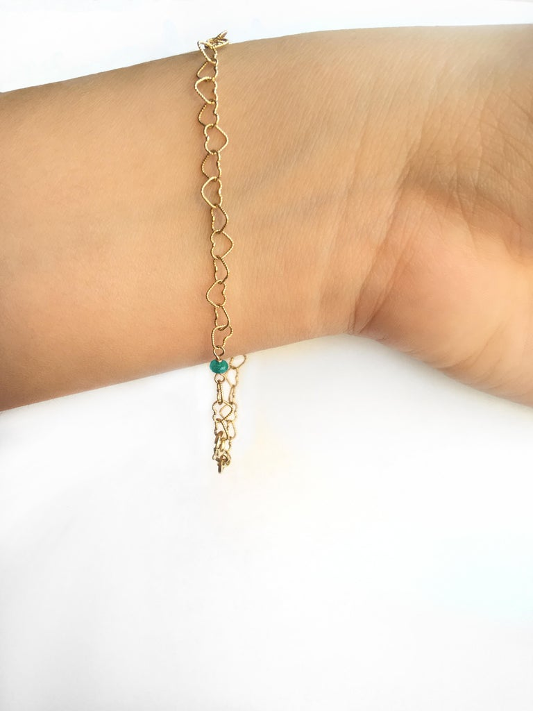 Romantic Style 18Karat Yellow Gold 0.35Karat Emerald