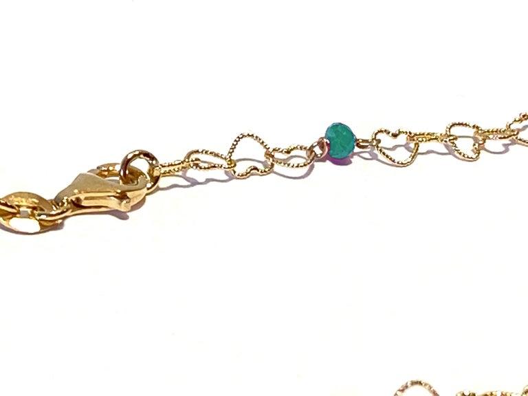 Romantic Style Rossella Ugolini 18 Karat Yellow Gold 0.50Karat Emerald Slightly Hammered