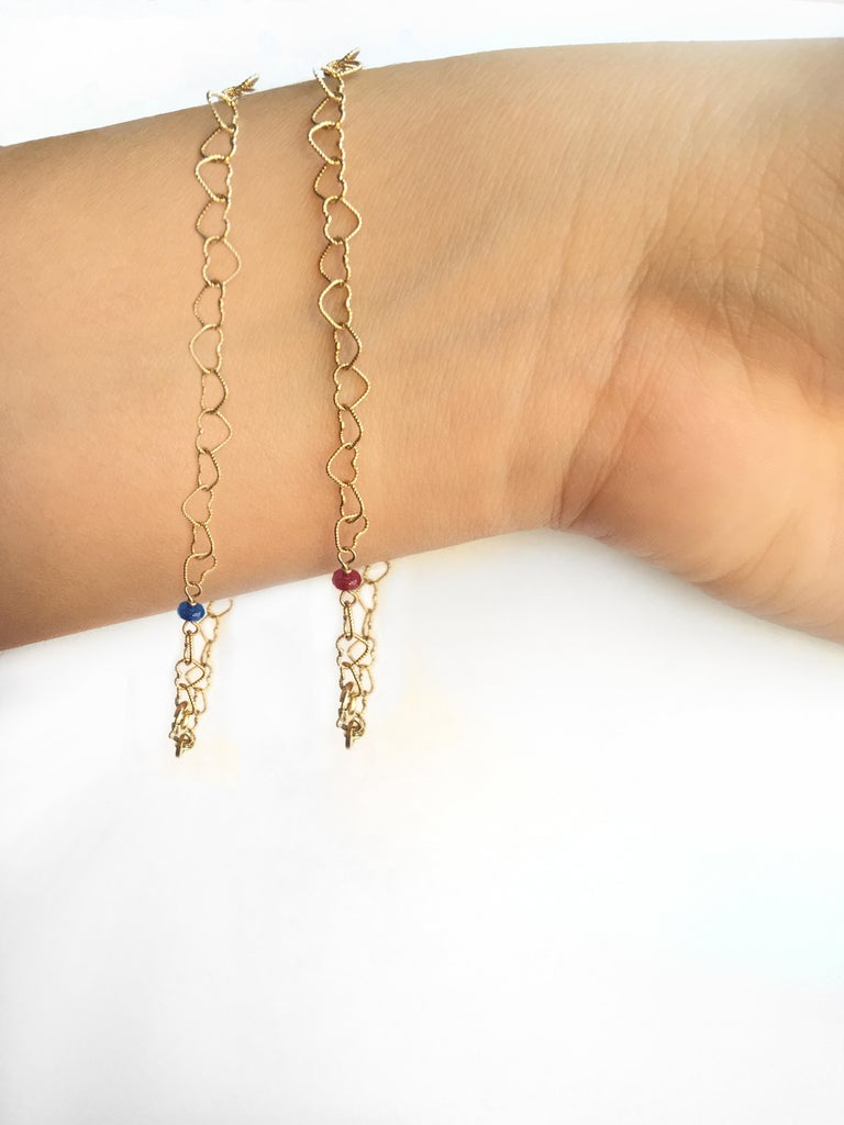 Romantic Style 18 Karat Yellow Gold 0.32 Karat Red Ruby