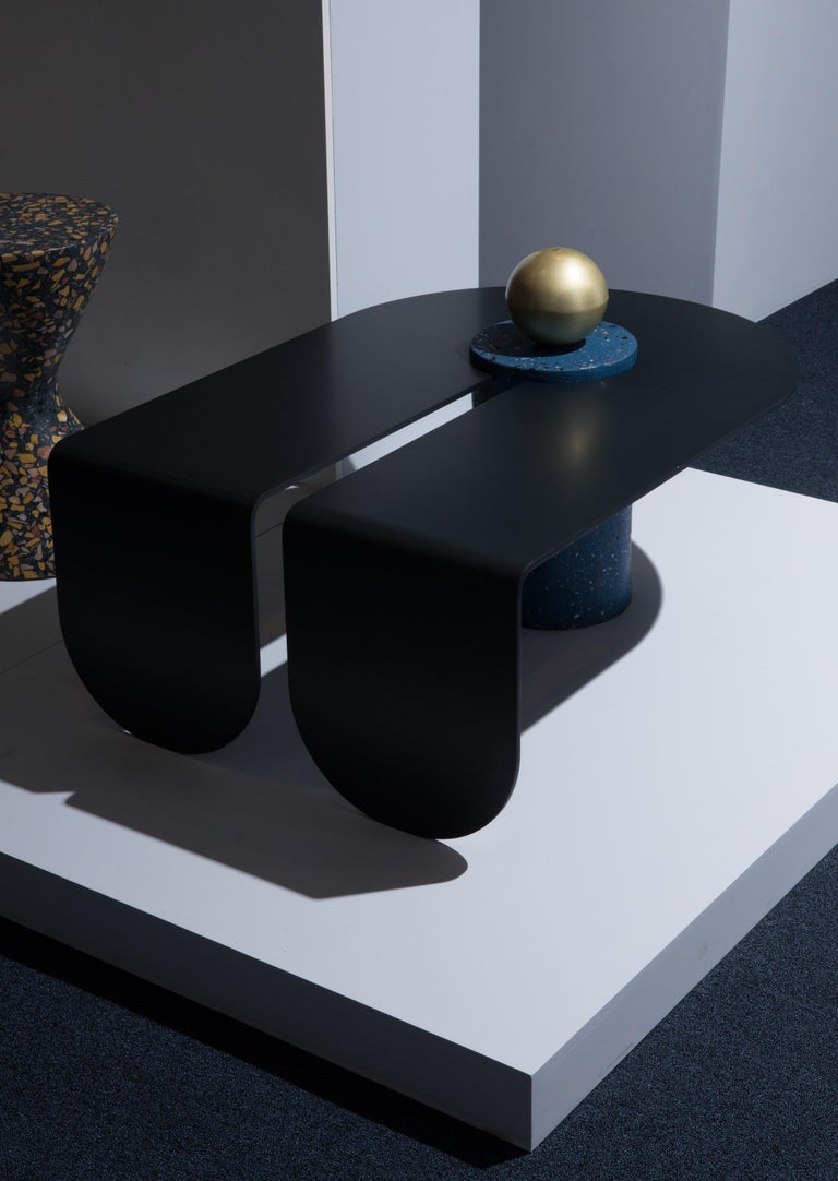U&I Coffee Table with Brass Storage Sphere by Birnam Wood Studio 3