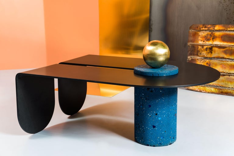 U&I Coffee Table with Brass Storage Sphere by Birnam Wood Studio 6